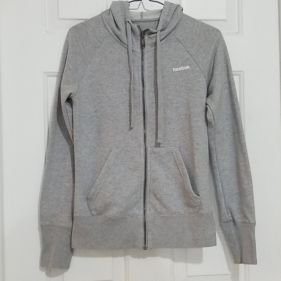 Reebok Light Grey Zip Up Hoodie
